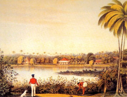 Kollupitiya seen from Cinnamon Gardens, Colombo ca. 1845